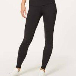 LULULEMON mid rise all black leggings